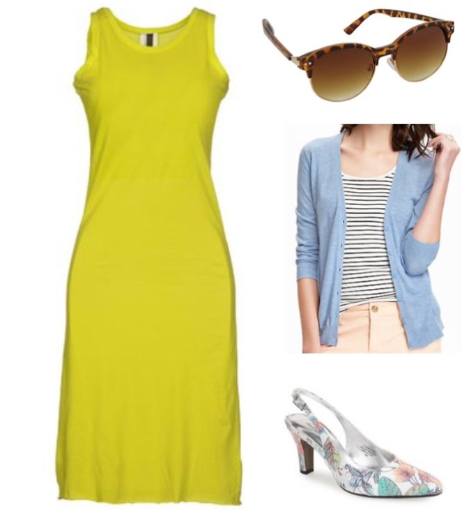 Liz Lauers Bright Dress Get the Look